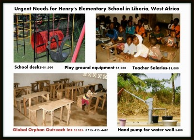 Liberian Outreach: Urgent needs for elementary school in Liberia, West Africa.